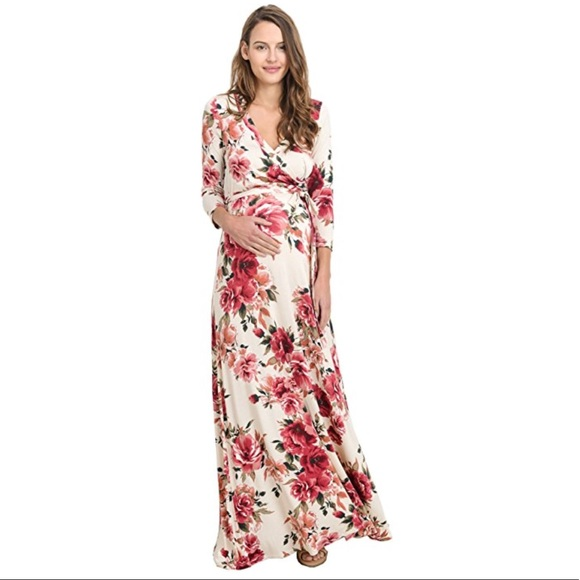 e94d20299e40a Hello MIZ Dresses | Redivory Floral Long Maternity Maxi Dress | Poshmark